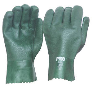 Green PVC Glove Short (27cm) Double Dipped