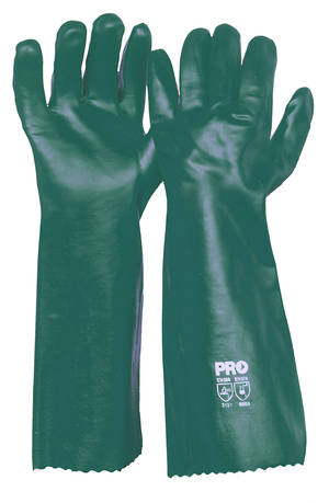 Green PVC Glove Long (45cm)