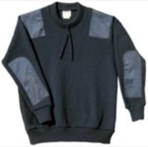 BJ4 Military Patch Style Wool Blend Pullover