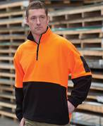 JB'S Hi Vis 1/2 Zip Polar Fleece