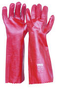 Red PVC Glove Long (45cm)